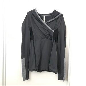 Lululemon Dark Gray Cross-Over Long Sleeve